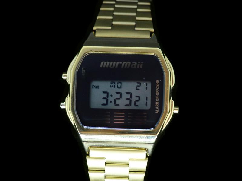 Relógio Mormaii Feminino Metal Dourado Digital