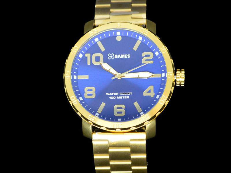 Relógio X Games Pulseira Metálica Dourado