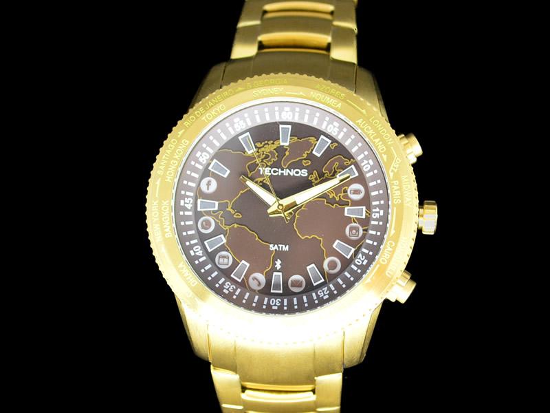 Relógio Technos Dourado Connect