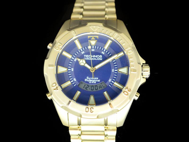 Relógio Technos Dourado Skydiver