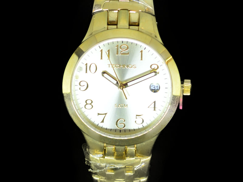 Relógio Technos Feminino Metal Dourado
